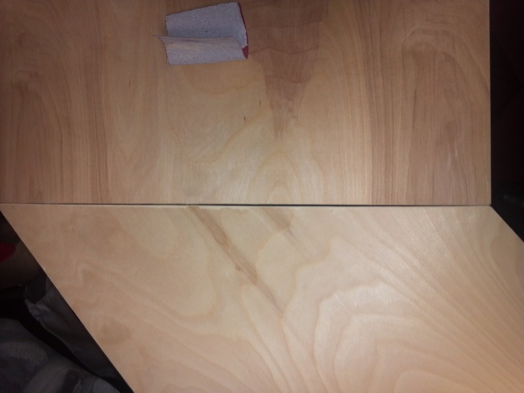 Slight gap, fixed with sanding and routing